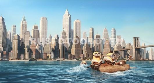 Миньоны плывут в Нью-Йорк