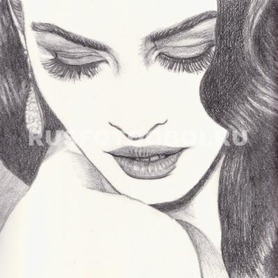 Девушка рисунок карандашом