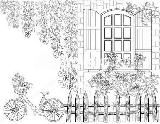 Дворик с велосипедом