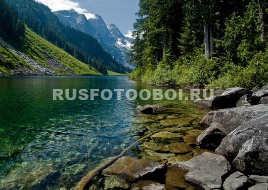 Река в низине гор