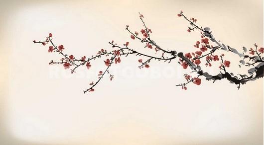 Ветка сакуры рисунок