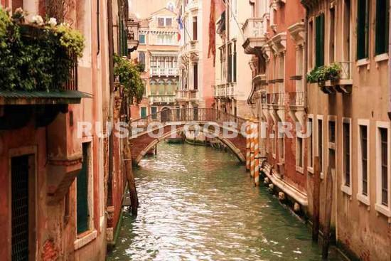 Фотообои Бежевые дома в Венеции