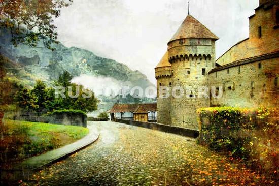 Фотообои Пейзаж с замком