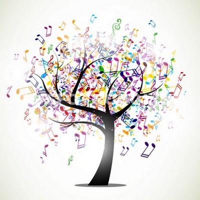 Фотообои Музыкальное дерево