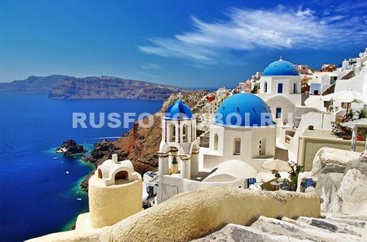 Фотообои Голубое море в Греции