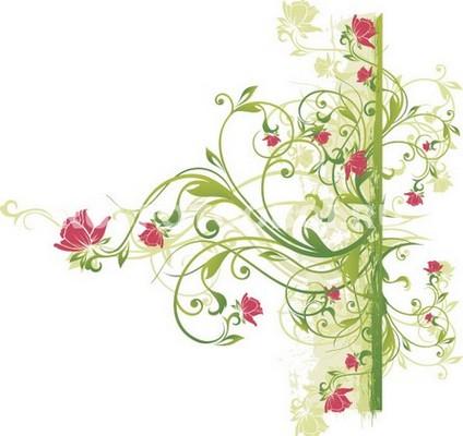 Фотообои Узор из цветов