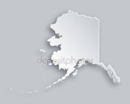 Карта аляски 3d