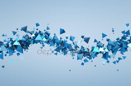 Летающие 3d частицы