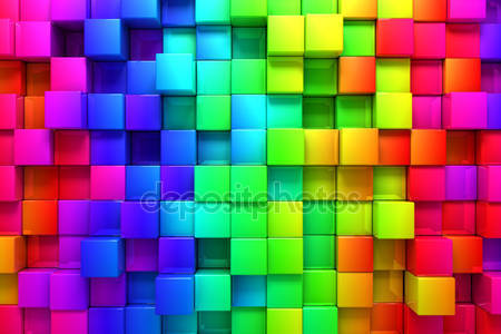 Красочные коробки радуги