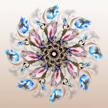 Цвет орнамента в виде цветка