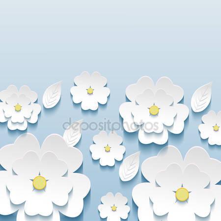 Красивые стильные обои с 3d цветами сакуры