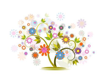Дерево с цветами