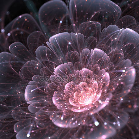Абстрактный цветок с блестками