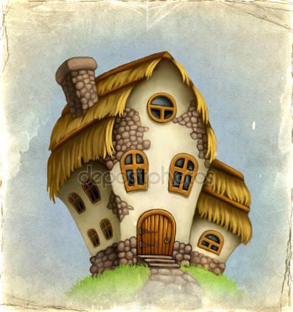Старая карта и сказочный домик