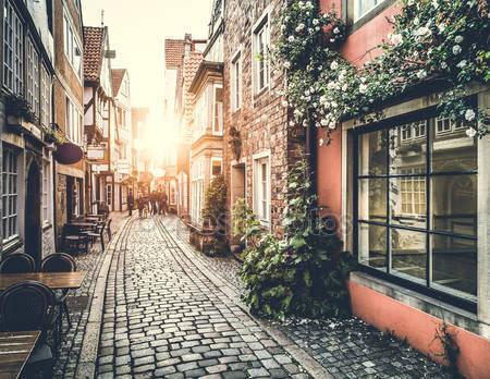 Старый город в европе