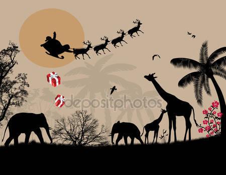 Санта-клаус в африке
