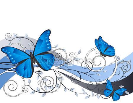 Цветные иллюстрации с бабочками