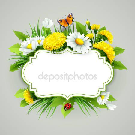 Свежий весенний фон с травой