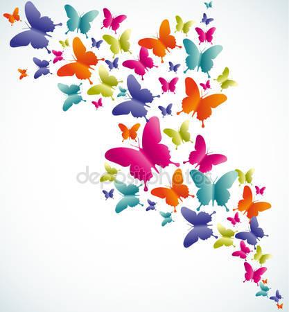 Всплеск лето и бабочек