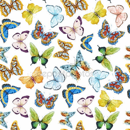 Акварель бабочки