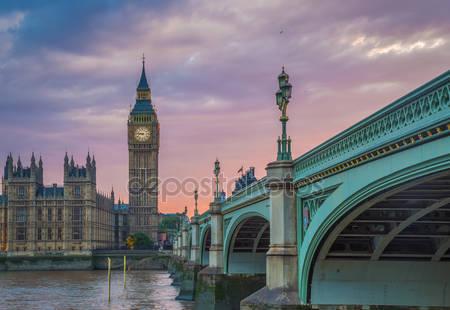 Вестминстерский мост с биг бен