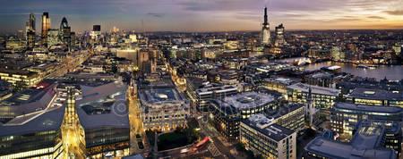 Лондонский сити в сумерках