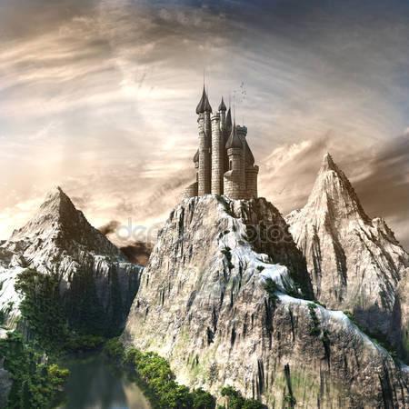 Замок в высоких горах