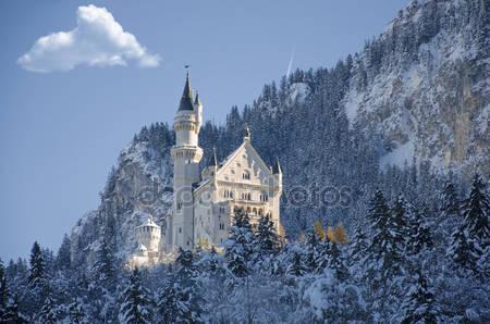 Зимний вид замок фюссен
