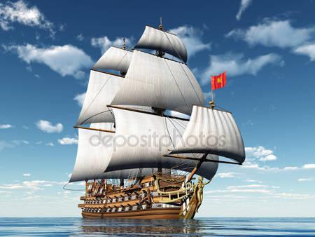 Французский парусный корабль