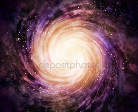 Спиральная галактика в пространстве