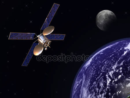 Спутник на орбиту земли