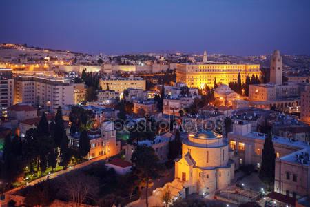 Старый город иерусалима ночью
