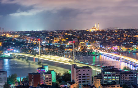 Стамбул ночной скайлайн