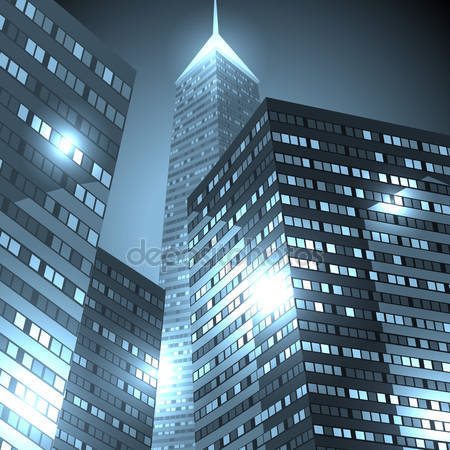 Центр города небоскребов