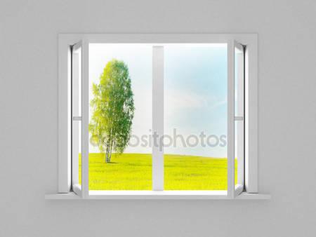Пейзаж за открытым окном