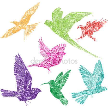 Коллекция летающих птиц