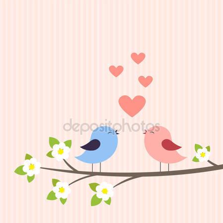 Пара птиц в любви
