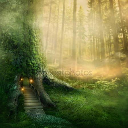 Фэнтезийный дом на дереве