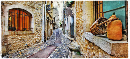 Очаровательные улицы средиземноморской старых деревень