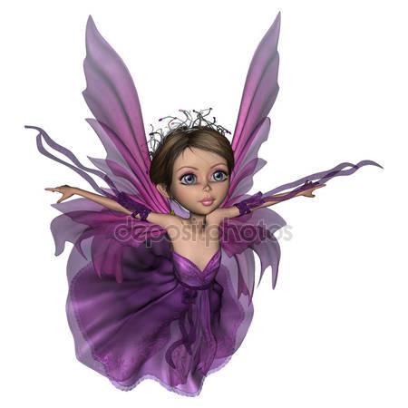 Летающий маленькая фея бабочка