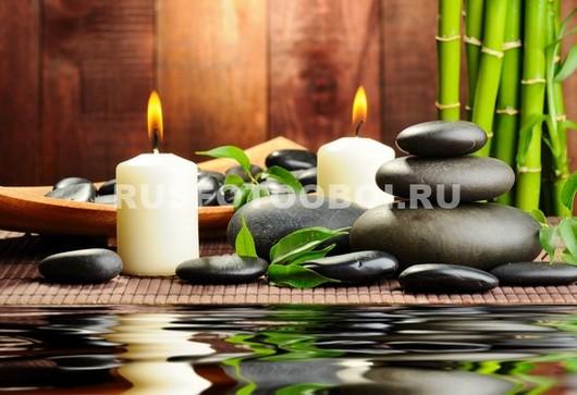 Черные камни бамбук
