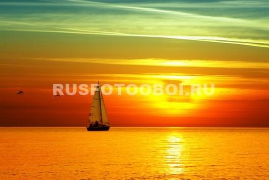 Фотообои Яхта на закате