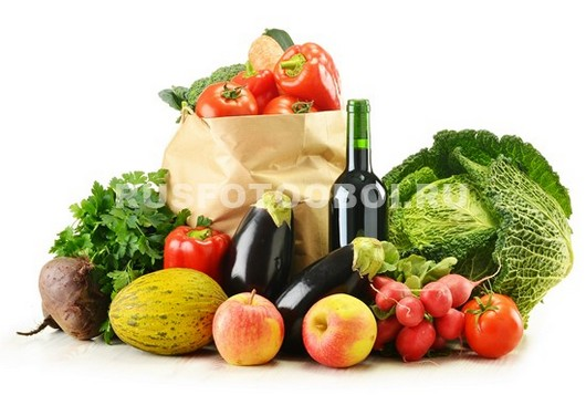 Фотообои Вино и овощи