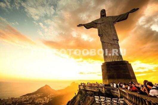 Фотообои Статуя Христа  в Рио-де-Жанейро