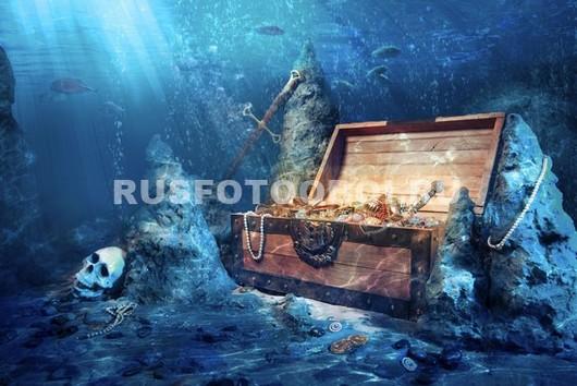 Сундук в море