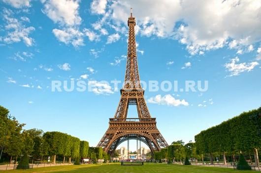 Фотообои Эйфелева башня днем