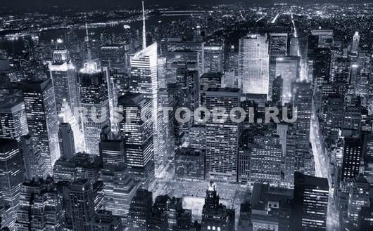 Фотообои Черно белая фотография с Нью-Йорком