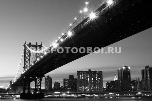 Фотообои Ночью под Бруклинским мостом