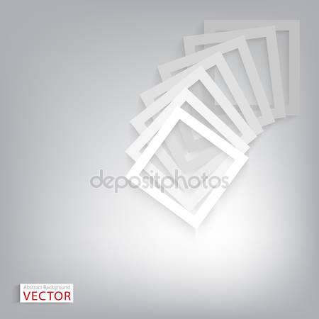 Вектор белый кадр