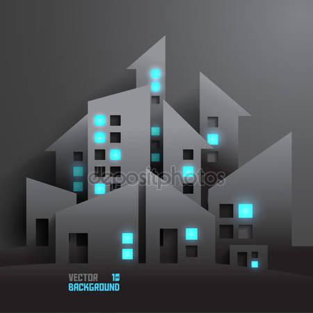 Абстрактные 3d бумажные здания